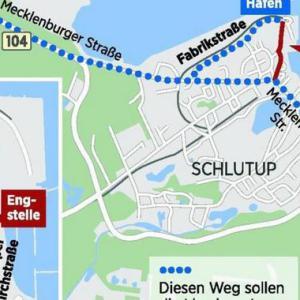 Fabrikstraße Schlutup LKW Straßen Parkplatz